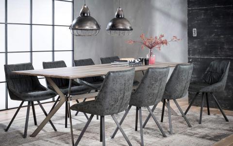 Salle à manger, table + 6 chaises