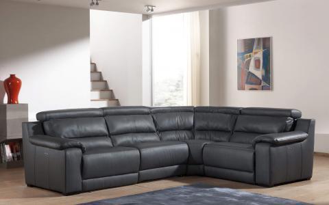 Salon en coin Kuna, 2places, accoudoir gauche avec relax électrique + angle + 1place avec relax électrique